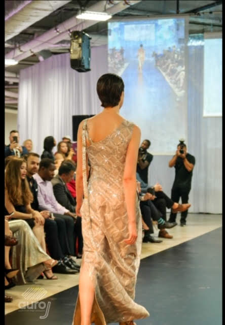 One Shoulder Sheer Silver Applique and Sequins Long Dress with Pockets and Side Slit